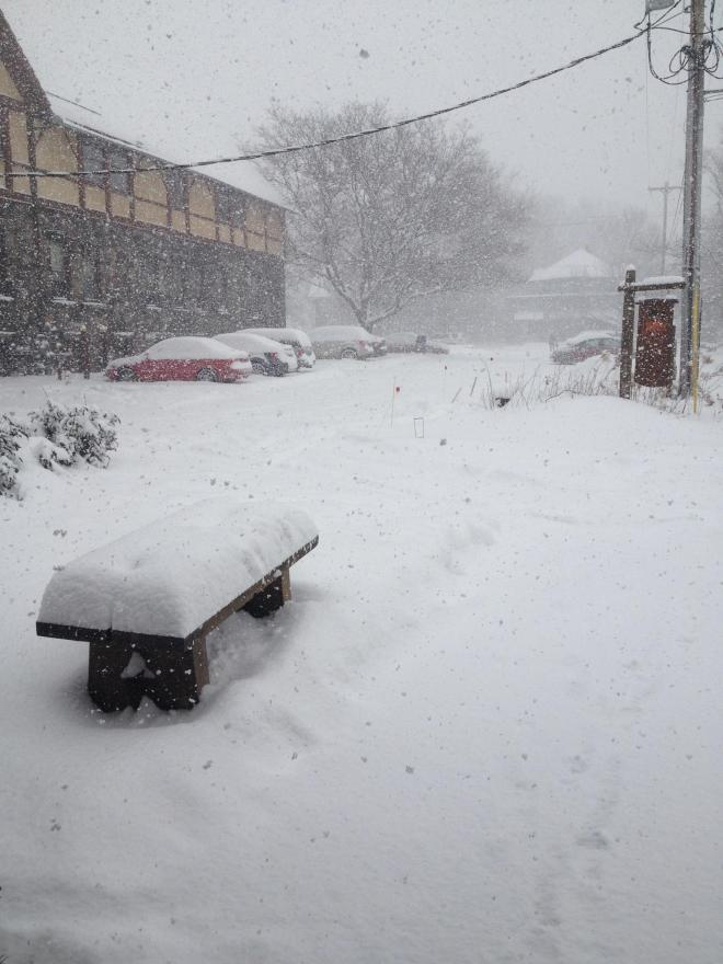 Conditions at noon on December 11, 2013 in East Aurora, NY (~20 miles south of Buffalo)
