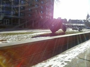 The campus at SUNY Buffalo State bathed in sunshine, December 12, 2013.