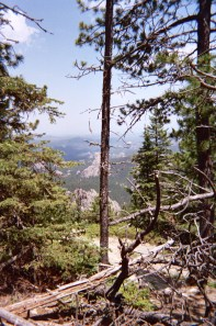 A view from the trail up Hin Han Kaga (the top of the world), the Lakota name for Mount Harney in the sacred Black Hills of South Dakota.