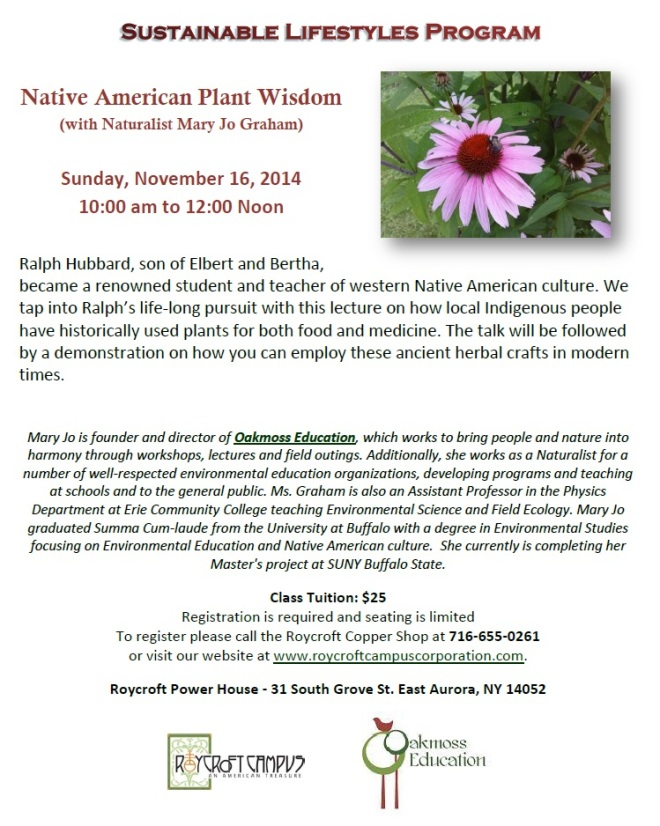 Native American Plant Wisdom at the Roycroft